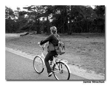 It's so quiet at De Hoge National Park that the sound of your bike is all you hear.