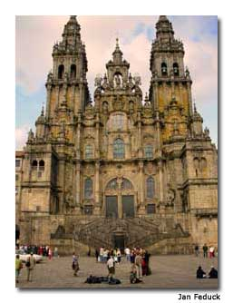 The cathedral in Santiago de Compostela marks the end of the journey.