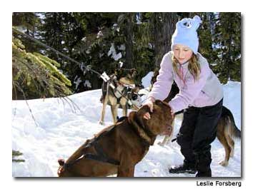 Kirsten enjoyed getting to know the dogs.
