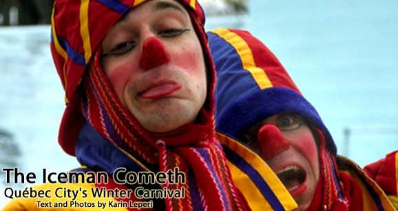 quebec winter carnival. during Carnaval de Québec.