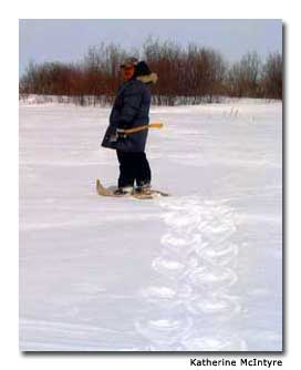 Snowshoeing is among the outdoors activities available to guests.