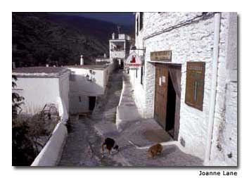Pampaneira is one of several whitewashed villages in the mountains near Granada.