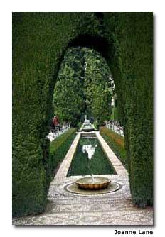 The Generalife, the summer palace of the sultans, has amazing gardens with water features.