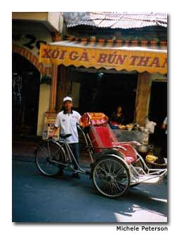 A xiclo, or rickshaw driver, can take you to the hidden alleyways and quiet side streets of traditional Hanoi.