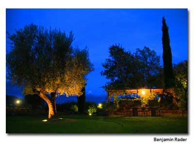 The gardens at I Tigli, an Abercrombie & Kent private villa in Umbria.