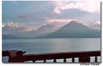 The stunning tranquilty of Lake Atitlán and Volcán San Pedro, enjoyed from the porch of several guest rooms.