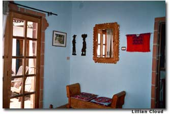 Each room at La Casa del Mundo is a miniature museum of Guatemalan folk art.