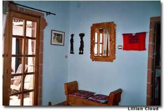 Each room at La Casa del Mundo is a miniature museum of Guatemalan folk art.