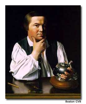 John Singleton Copley's portrait of Paul Revere hangs in the Museum of Fine Arts, Boston. It was painted in 1768, seven years before the famous ride. At this time, it was rare to have the subject of a portrait without a coat. Revere's descendants misunderstood this picture and thought it made him look like a workman, so they hid it in a closet.