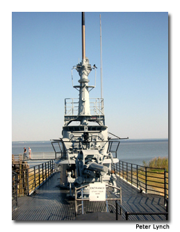 The USS Alabama weighed 42,500 tons when fully loaded.