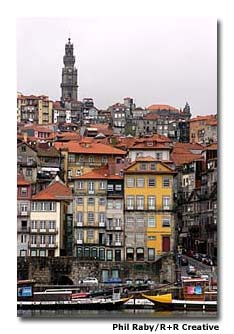 A view of the historic city of Porto, as seen from across the River Douro.