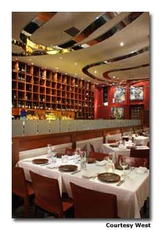 """With chef David Hawksworth's powerful contemporary cooking, West earned Vancouver Magazine's """"Restaurant of the Year"""" in 2005."""