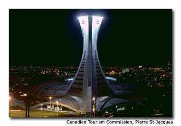 Montréal's Olympic Stadium Tower is the tallest inclined structure in the world.