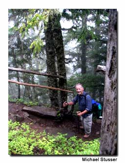 Dad still hits the trails in Mt. Rainier National Park.