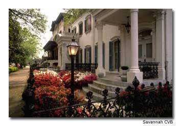 The well-preserved exteriors of mansions in Savannah's historic district give no clues to their sometimes seedy pasts.