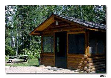 Several of the camper cabins at Bear Head Lake Park are open year-round.