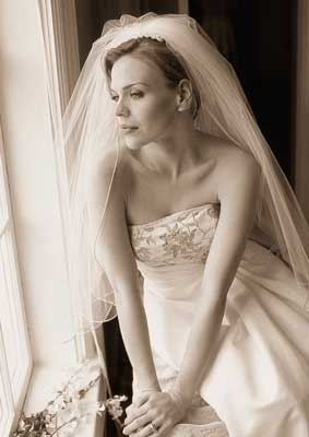 Bride at her destination wedding