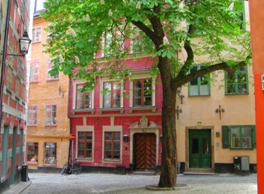 A quiet corner in Gamla Stan, Stockholm's Old Town.