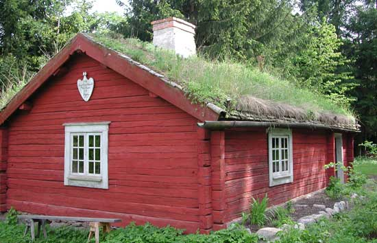 Sod Roof Norwegian Cabin With Sod Roof
