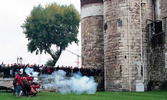 Reenactment at the Tower of London