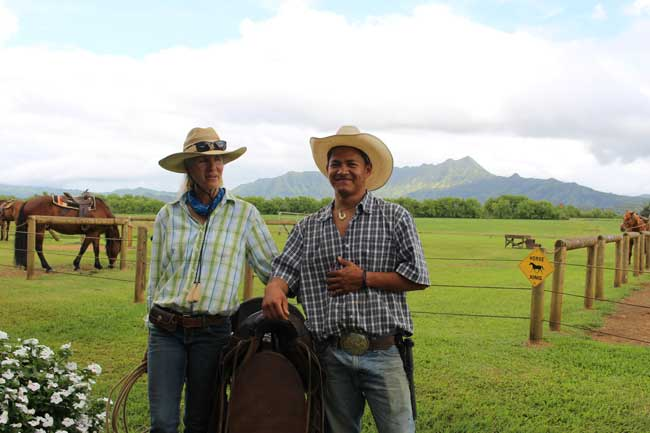 Hawaii has large ranches. Cowboys here are called paniolos. Photo by Janna Graber