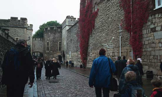 A rainy day at the Tower of London