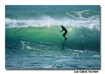 Surfers from all around the world visit the beaches of Los Cabos in search of the perfect wave.