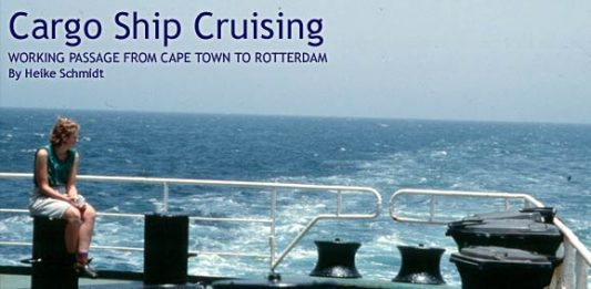 Cargo Ship Cruising: Working Passage from Cape Town to Rotterdam