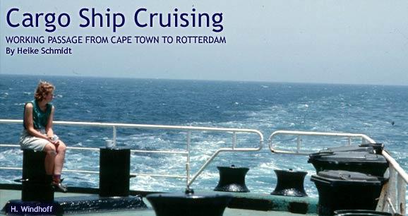 Cargo Ship Cruising Working Passage Via Ship From Africa