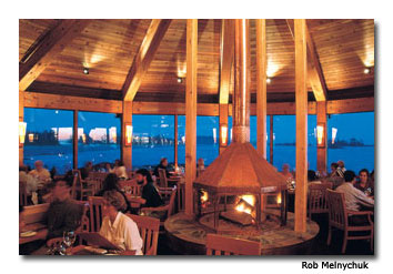 Guests enjoy a romantic dinner at The Wickaninnish Inn, The Point Restaurant.