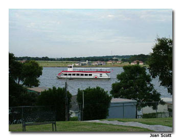 The Granbury Riverboat plies the waters of beautiful Lake Granbury.