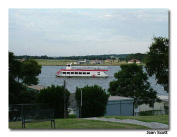 The Granbury Riverboat plies the waters of beautiful Lake Granbury.