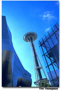 Built for the 1962 World's Fair, Seattle's Space Needle is a must-see for all ages.
