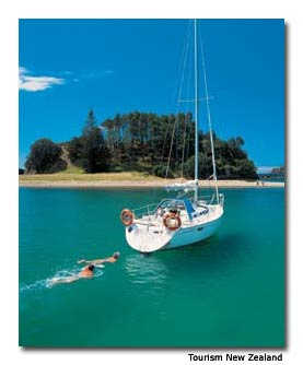 New Zealand is great for boating.