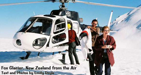 Helicopters offer sky high views of New Zealand.