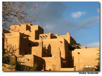 Strict building codes mandate Santa Fe's Territorial and Spanish Revival style.