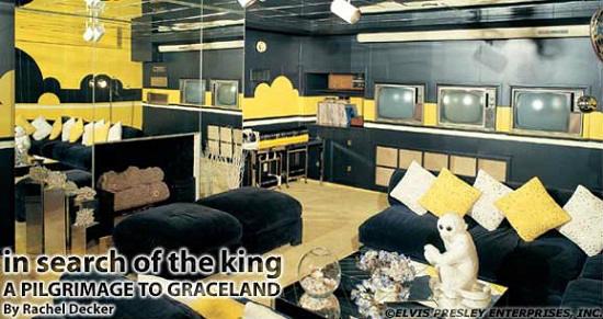 Elvis Presley's TV room.