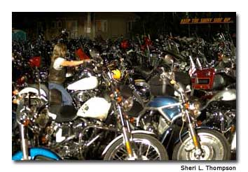 Sturgis fills with motorcycles for the rally.