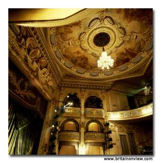 Inside the historic Wyndhams Theatre