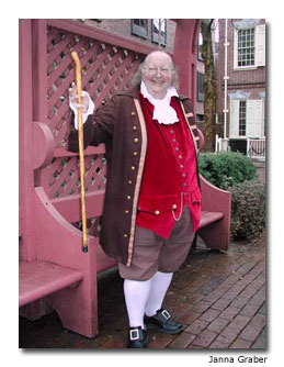 Actors of all ages play Ben Franklin at different times in his life