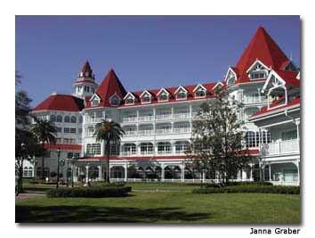 The Grand Floridian harkens back to Victorian years.