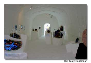 The igloo-style rooms and snow-packed walls make The Ice Hotel a unique spot to lay your head.