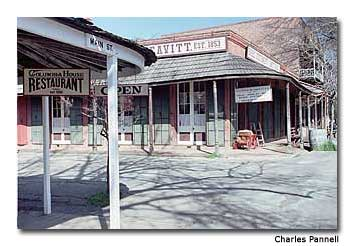 "Columbia, California has preserved the old signs and store fronts of days gone by, giving the town its ""Old West"" appeal."