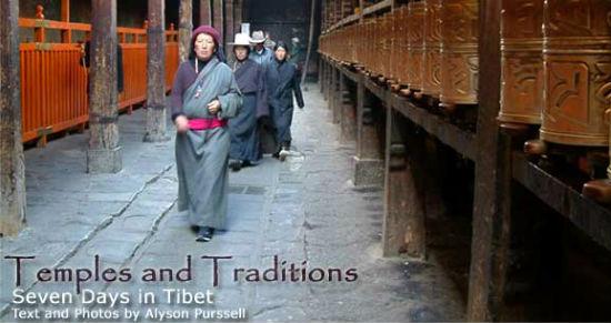 Pilgrims visit Jokhang Temple.