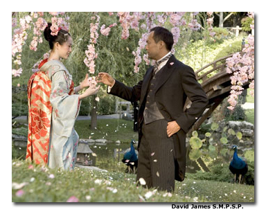 """The Chairman character is gentle and passive,"" says Watanabe of his character in Memoirs of a Geisha. ""He grows by embracing the other characters, so I have to catch a feeling of all of them."""