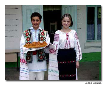 Children (shown here in traditional dress) represent hope for the future in Moldova.