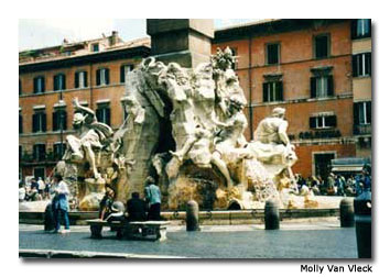 The Piazza Navona is a prime location to fully experience the festivities that take place during Rome's Epiphany Fair.