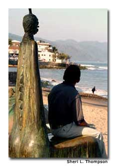 Bronze sculptures are found on Puerto Vallarta's waterfront.