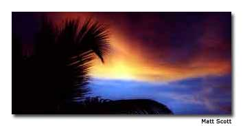 A beautiful sunset over Isla Holbox.