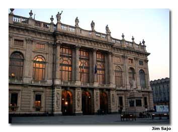 The Madama Palace, on Piazza Castello, is just one example of Turin's marvelous architecture. The historic structure encompasses a Roman doorway, a medieval castle and a beautiful Baroque facade.